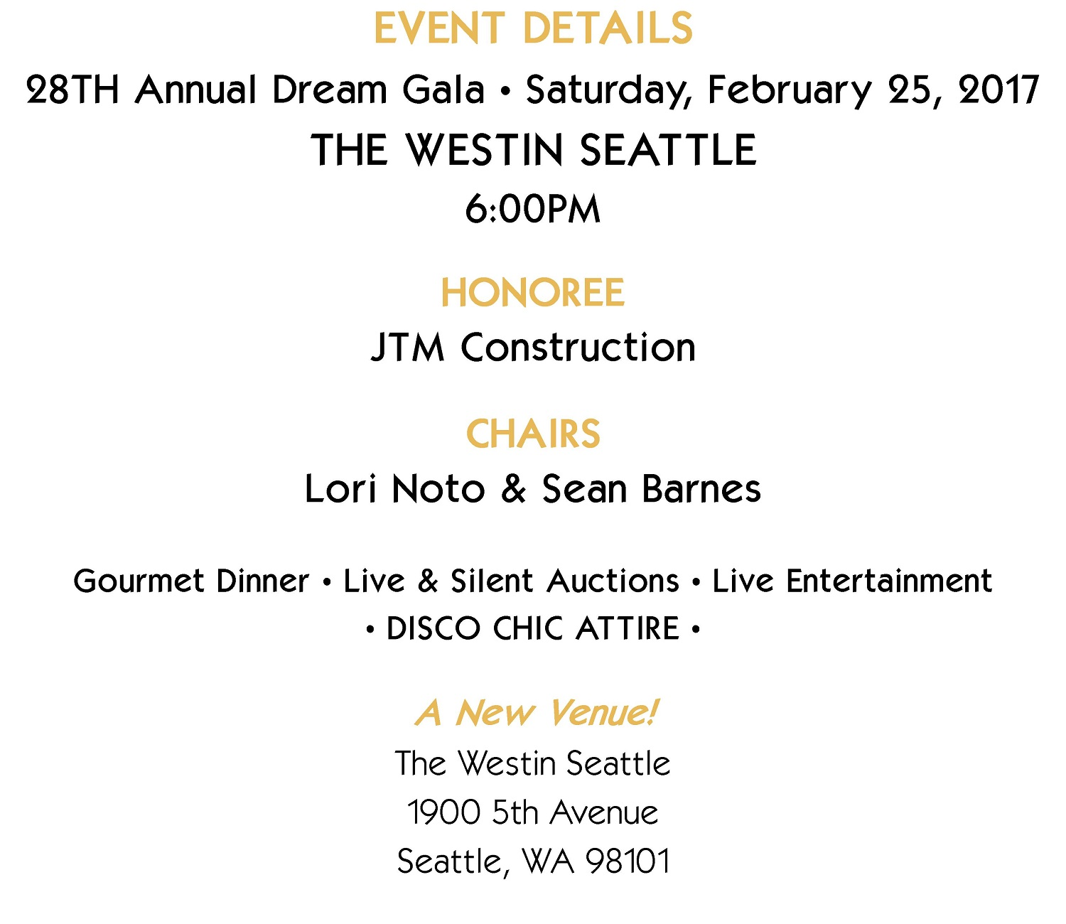 Jdrf Seattle Guild 28th Annual Dream Gala