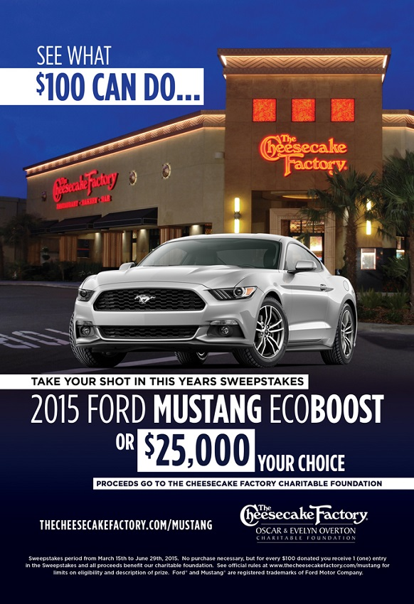 Ford mustang ecoboost sweepstakes 2015 home for Ford motor company charitable giving
