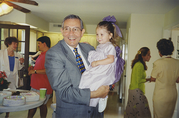 Olivia Tzagournis with her grandfather, Dr. Manuel Tzagournis