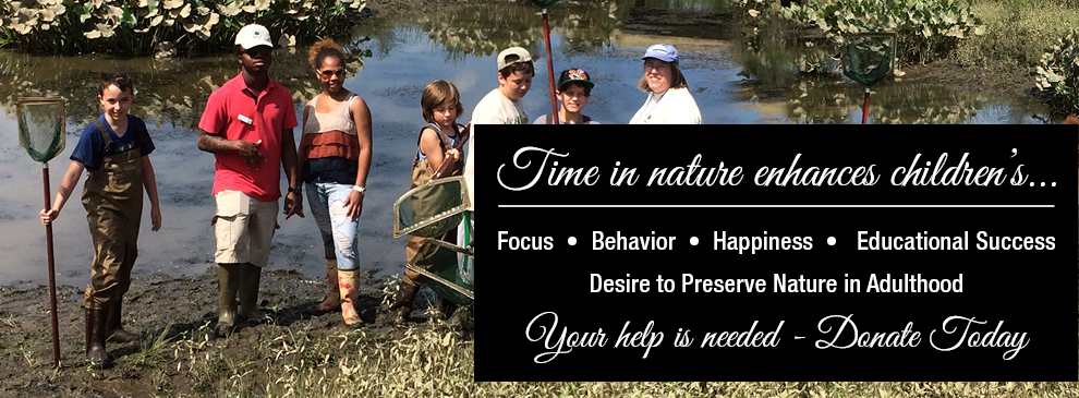 Time in nature enhances children's... Focus • Behavior • Happiness • Educational Success • Desire to Preserve Nature in Adulthood.  Your help is needed - Donate Today.