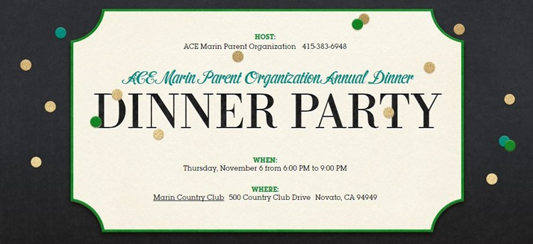 ACE Marin Parent Organization Annual Dinner
