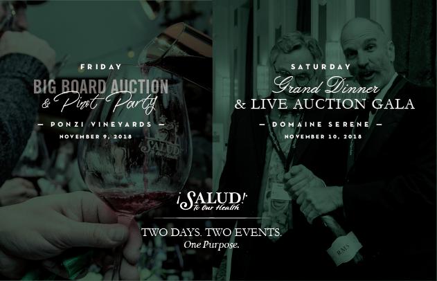 Salud 2018 The Oregon Pinot Noir Auction